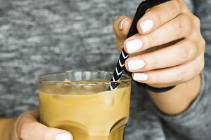 Summer cooling coffee drink