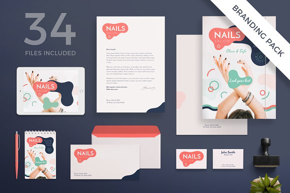 Branding Pack Nail Design Salon