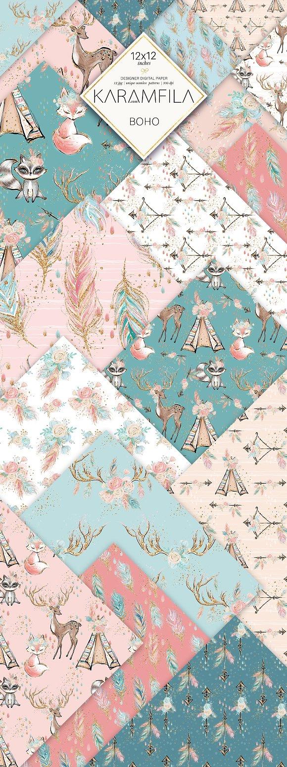 Cute Boho Patterns