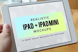 Realistic iPad & iPad Mini Mockups