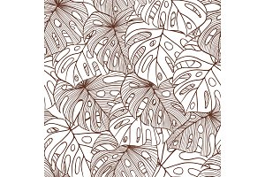 Vector illustration leaves of palm tree.