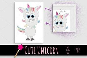 cute Unicorn Baby character print