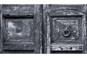 Wooden background, old door, vintage