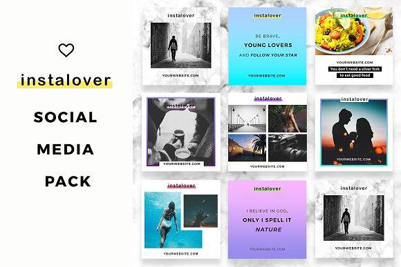 Instalover Instagram SocialMediaPack