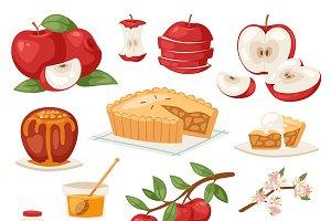 Apples vector healthy applepie