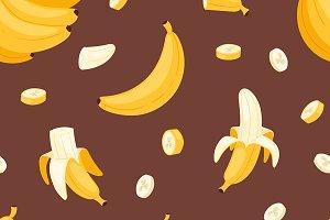 Banana set vector bananas products
