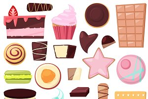 Confectionery sweet vector chocolate