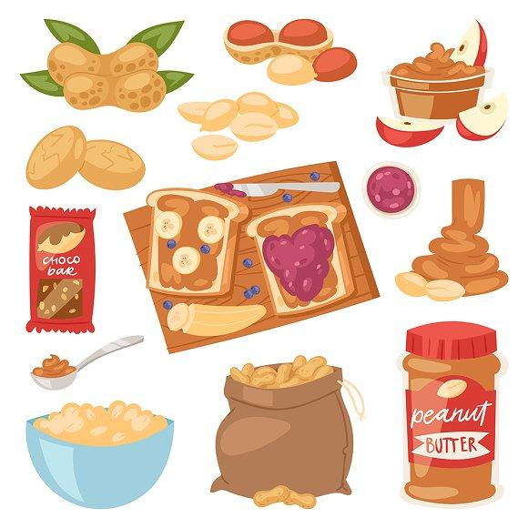 Peanut vector groundnut butter