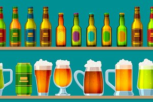 Beer brewery vector beerhouse icons