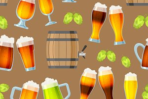 Beer in mug brewery vector icons