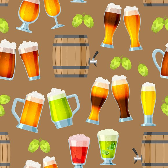 Beer In Mug Brewery Vector Icons