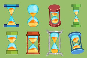 Sandglass vector watches time glass