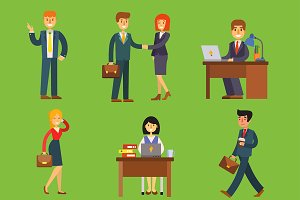 Business people vector characters