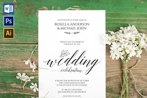 Wedding Invitation Template WPC426