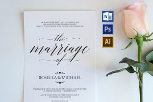 Wedding Invitation Template WPC427
