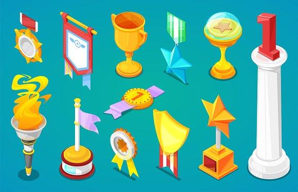 Award Trophy Vector Winners Prize