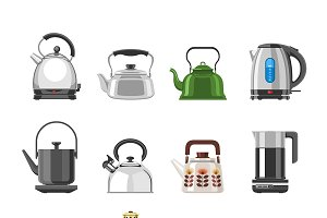Teapot and kettle vector teakettle