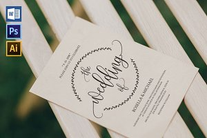 Wedding Invitation Template WPC429