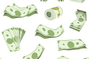 Money vector stack of dollars