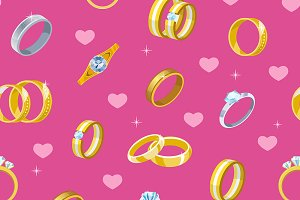 Wedding rings vector engagement