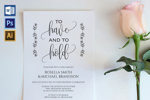 Wedding Invitation Template WPC431