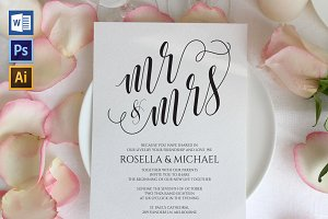 Wedding Invitation Template WPC432