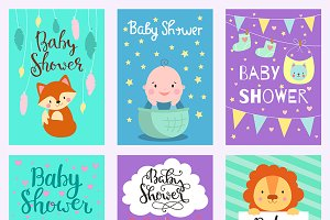 Baby shower design vector card cute