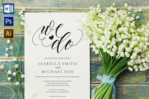 Wedding Invitation Template WPC434