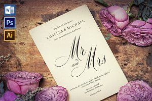 Wedding Invitation Template WPC435