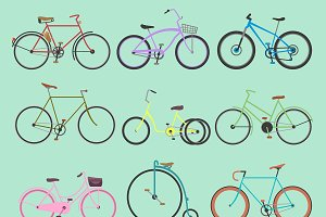 Retro bike vintage vector oldfashion