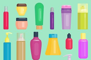 Parfume cosmetics vector bottles