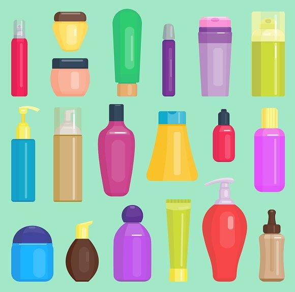 Parfume Cosmetics Vector Bottles