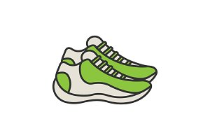 Sneakers color icon