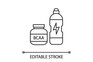 BCAA supplement linear icon