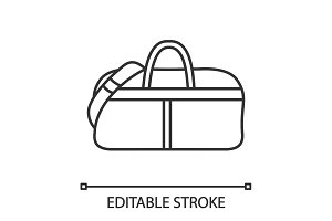 Sports bag linear icon