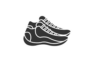 Sneakers glyph icon