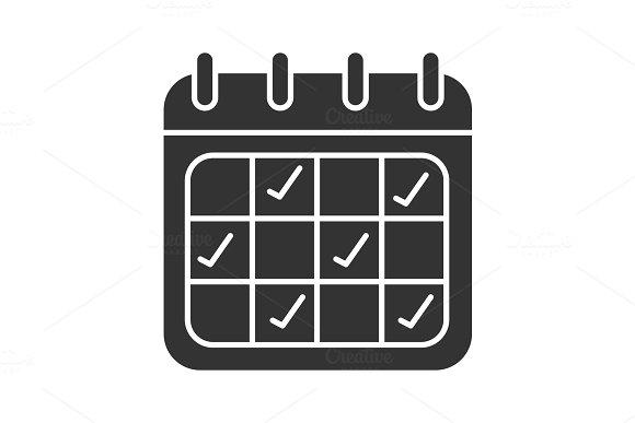 Calendar Glyph Icon