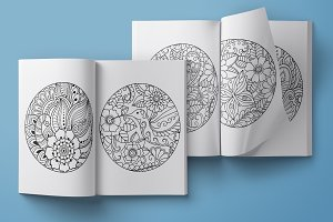 Coloring book page set