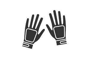 Gloves glyph icon