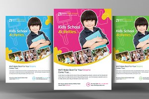 Kids School Flyer Templates