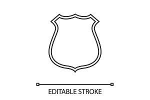 Badge, emblem linear icon