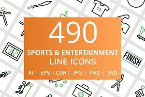 490 Sports & Entertainment Line Icon