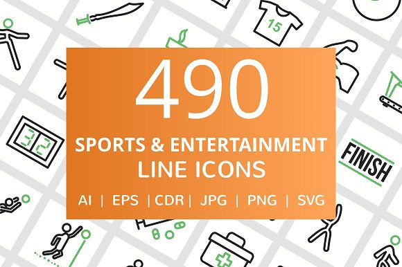 490 Sports Entertainment Line Icon