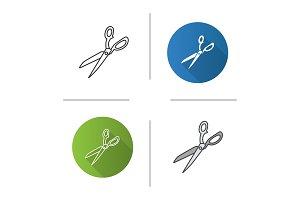 Fabric scissors icon