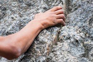 Climber's hand