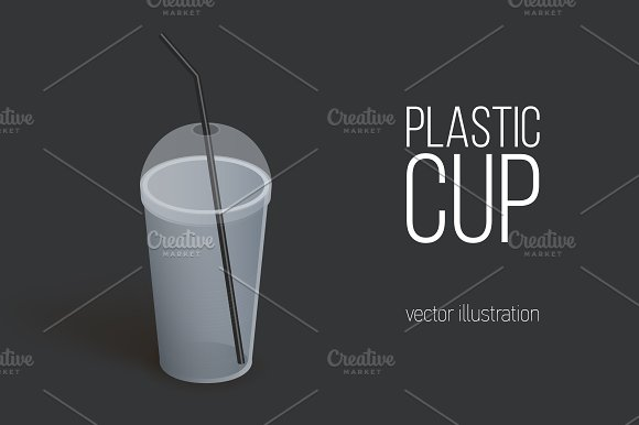 Realistic Plastic Cup