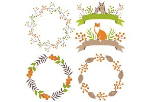 Woodland Wreath & Ribbons Set