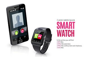 Smart Watch Realistic Set