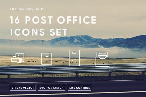 16 Post Office Icons Pack