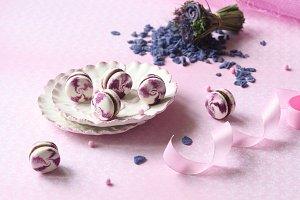 Violet Macarons